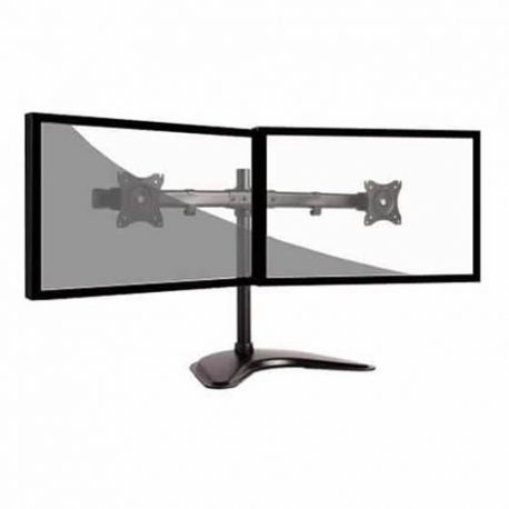 Soporte para monitor doble negro negro curvo F LULDT08-T02