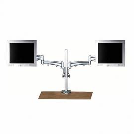 Soporte para monitor de 2 brazos en aluminio