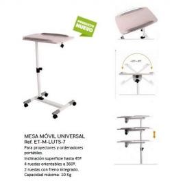 Mesa para portátil con ruedas