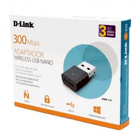 Adaptador de red inalámbrico D-Link DWA-131