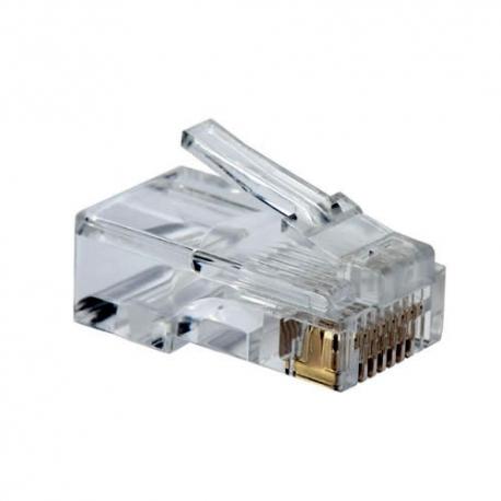 Plug RJ-45 Categoría 6, marca QPCOM