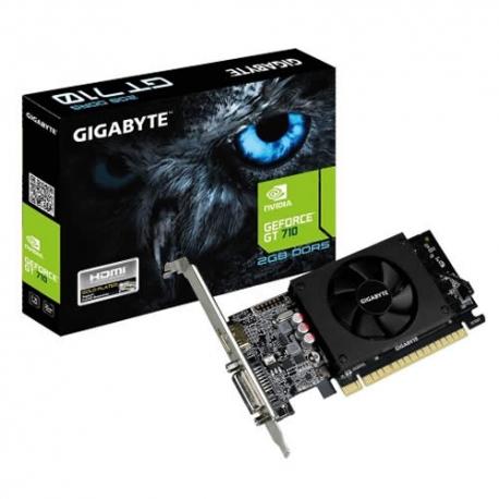 Tarjeta de video GIGABYTE de 2GB DDR5 GT 710