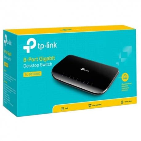 Switch TP- Link 8 Puertos 10/100/1000 TL-SG1008D