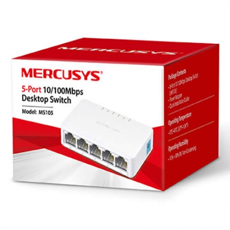 Switch TP-Link 5 Puertos 10/100 Mercusy MS105