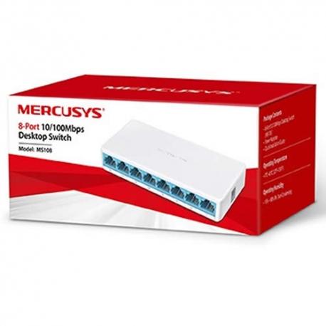 Switch TP-Link 8 Puertos 10/100 Mercusys MS108