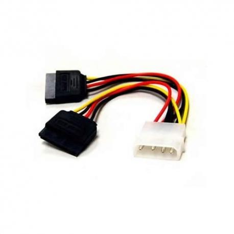 Cable De Poder Sata Doble - 2 Conectores