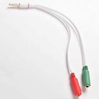 Convertidor de audio-micrófono 3.5 mm 2 a 1